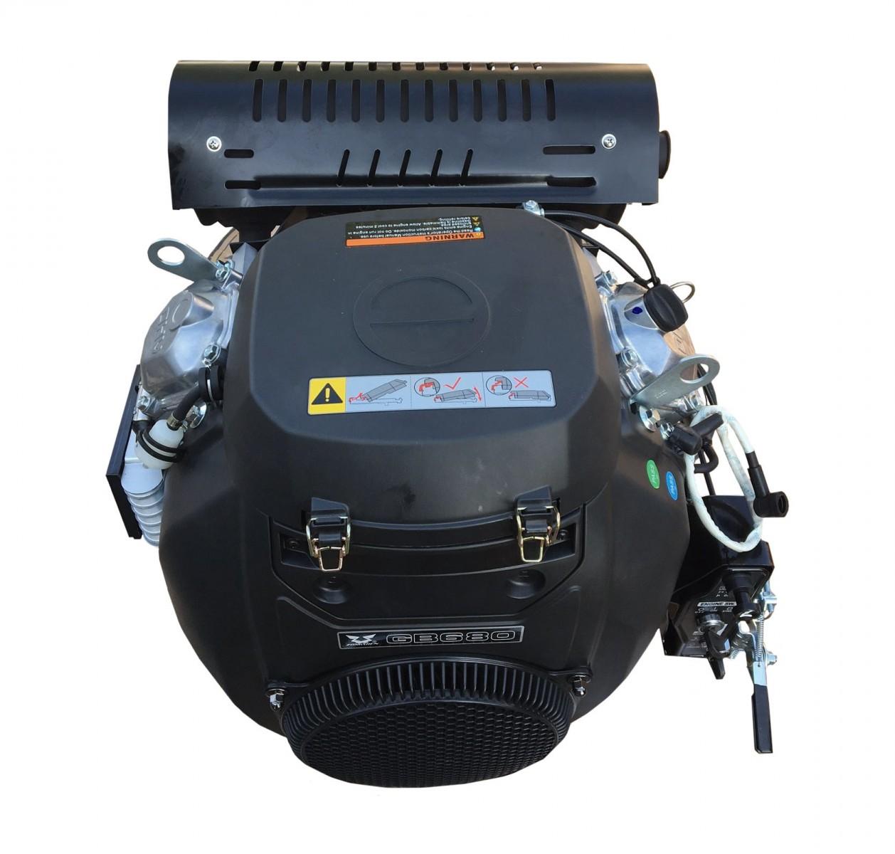 Motor ZONGSHEN GB680 680cc 22 TWIN horizontální hřídel 25.4mm