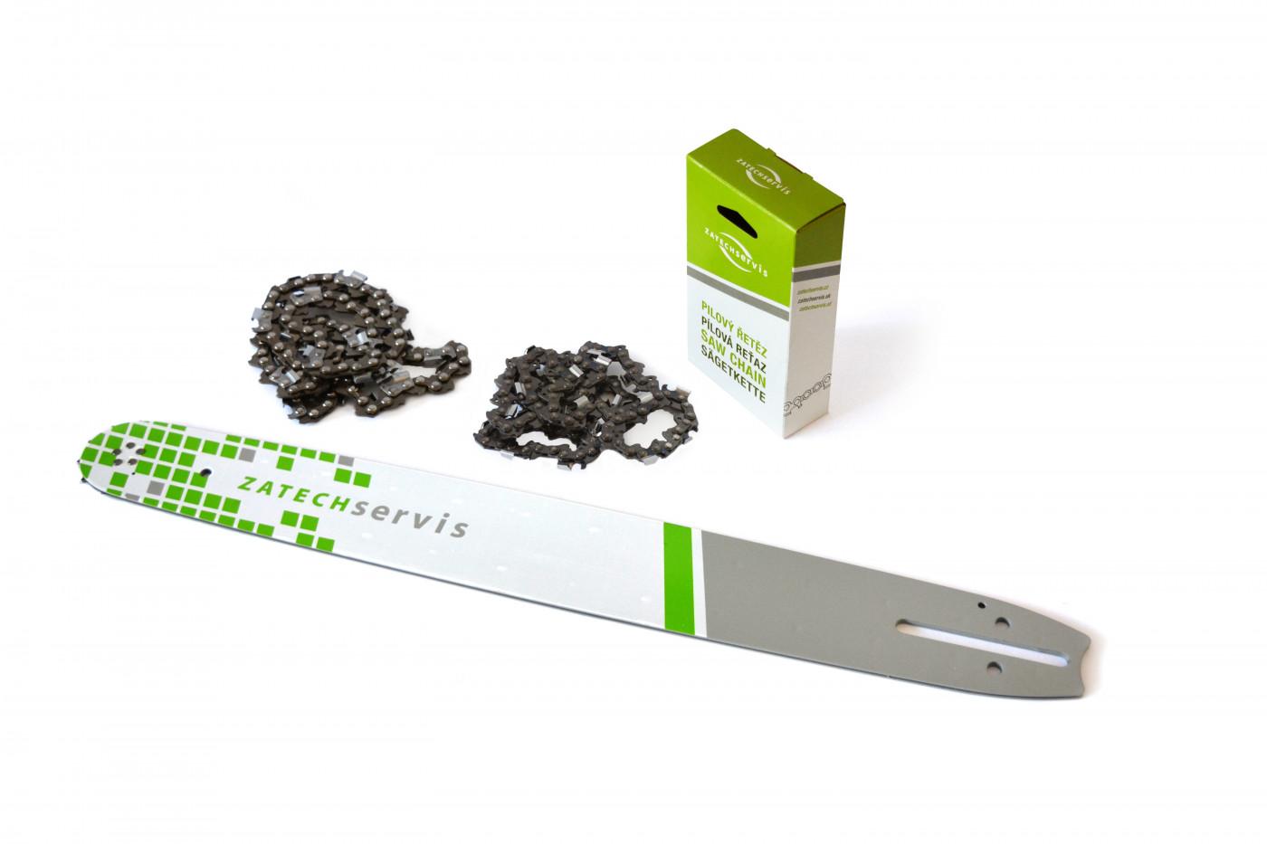 Lišta 50cm + 2x reťaz 72 článkov 3/8 1,5mm pre Husqvarnu