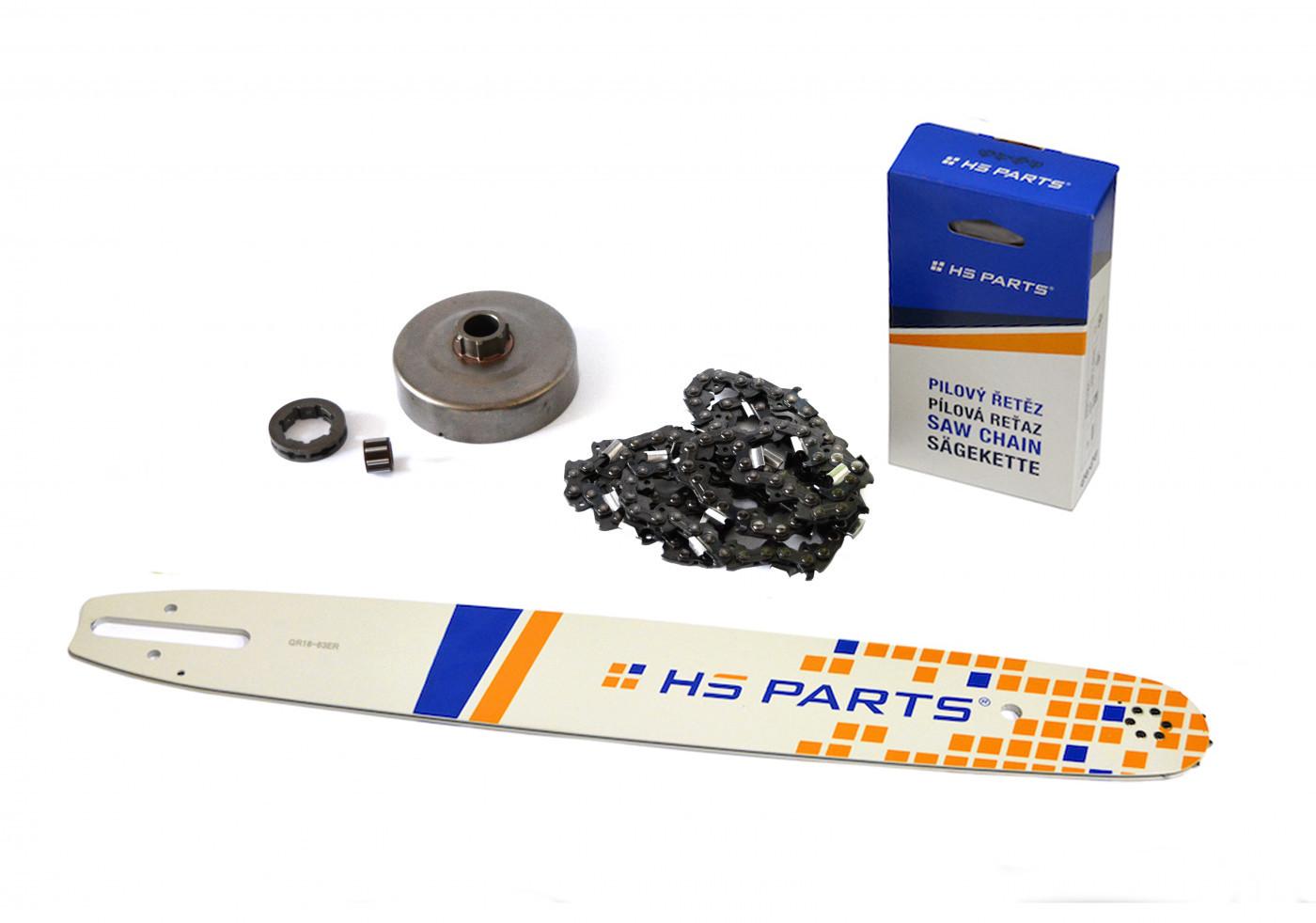 """HS PARTS Vodiaca líšta 18"""" (45cm) + reťaz .3/8"""" 1,6mm 66 čl. + ozubenie pre Stihl MS660"""