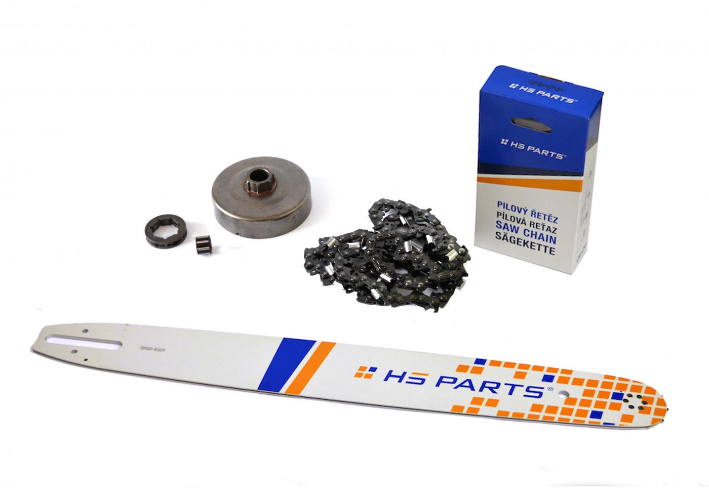 """HS PARTS Vodiaca líšta  20"""" (50cm) + reťaz .3/8"""" 1,6mm 72 čl. + ozubenie pre Stihl MS660"""