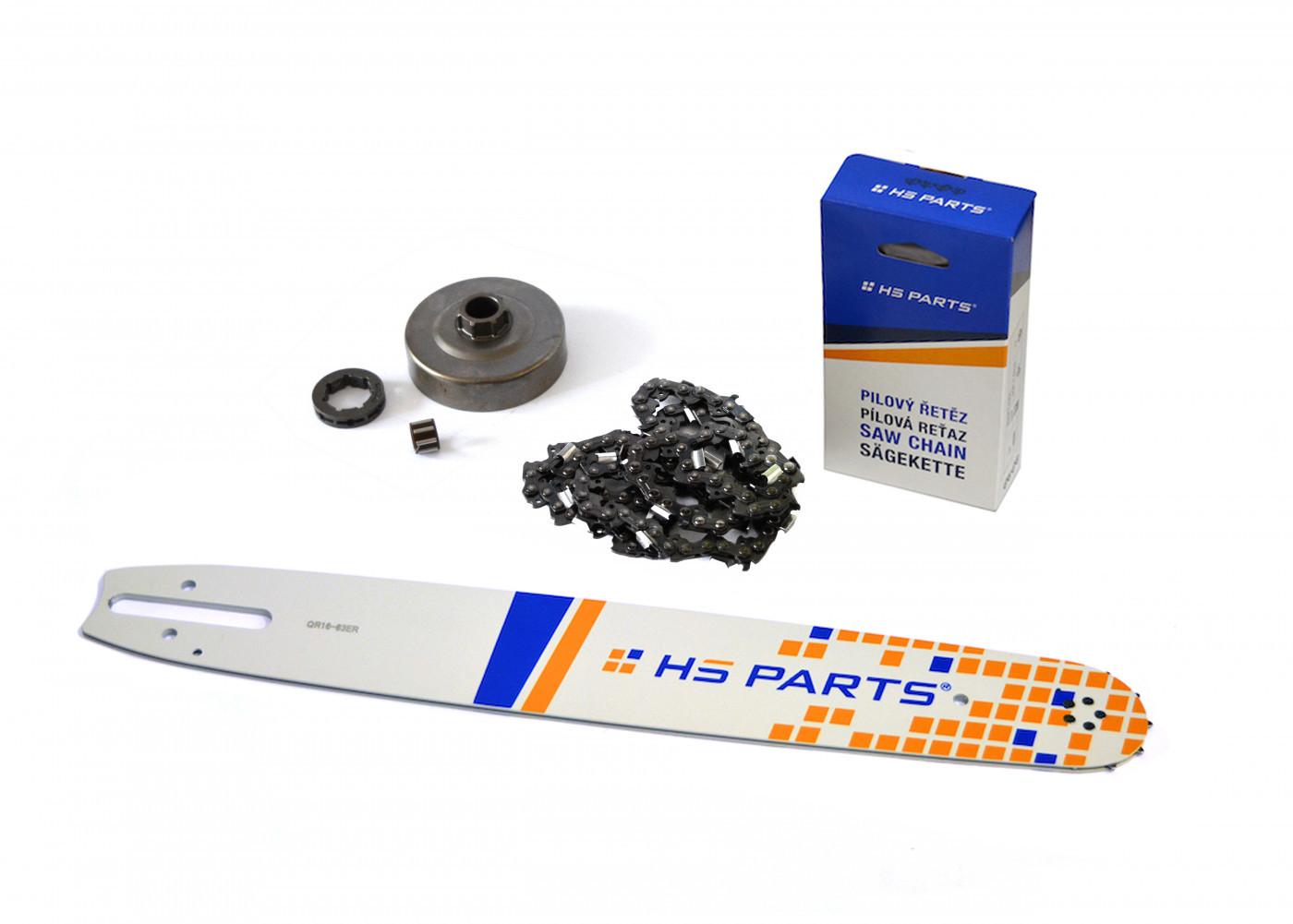 """HS PARTS Vodiaca líšta 16"""" (40cm) + reťaz .3/8"""" 1,6mm 60 čl. + ozubenie pre Stihl MS360"""