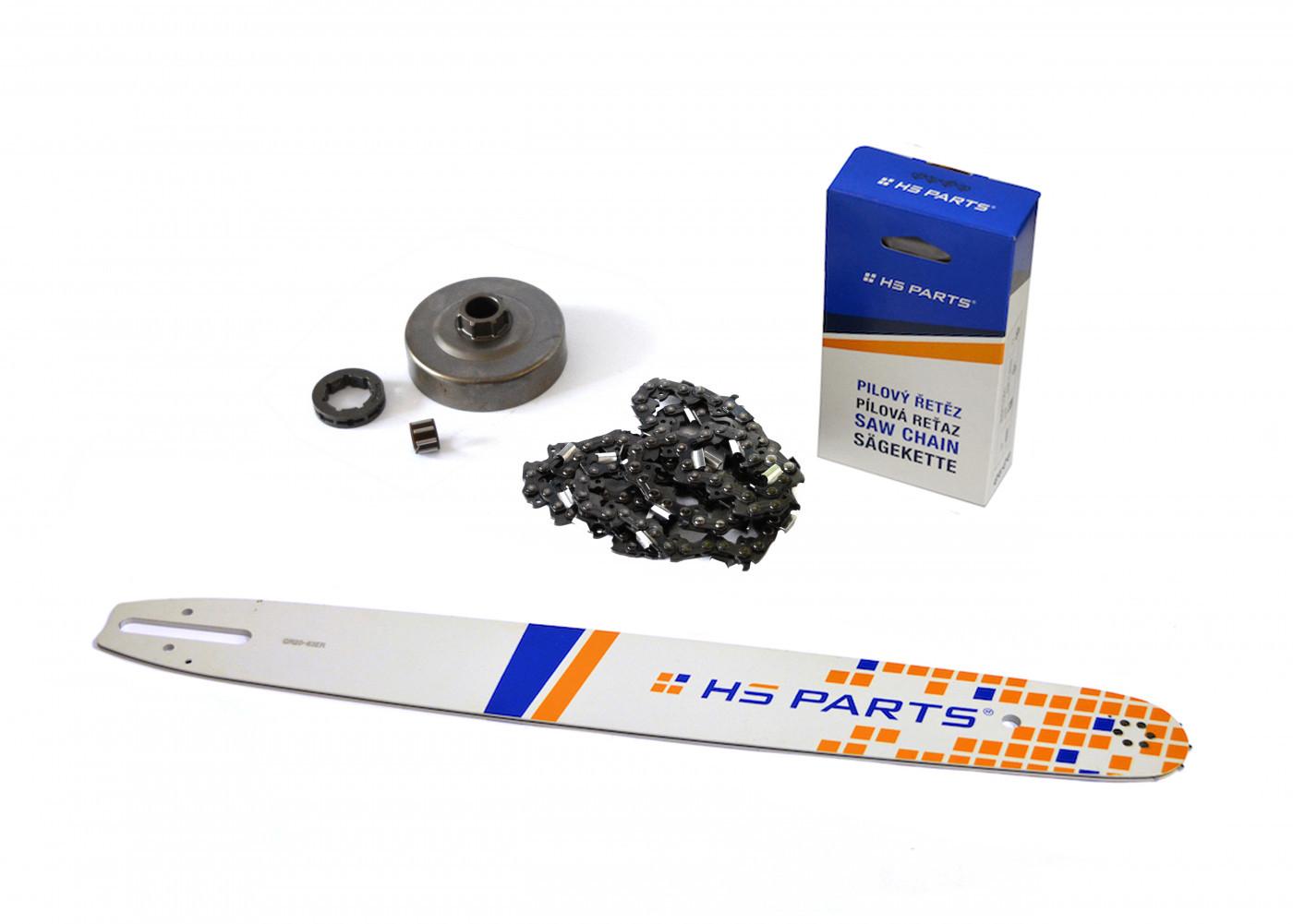 """HS PARTS Vodiaca líšta 20"""" (50cm) + reťaz .3/8"""" 1,6mm 72 čl. + ozubenie pre Stihl MS360"""