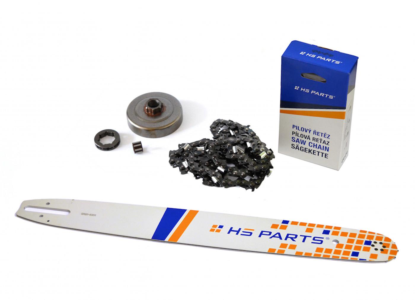 """HS PARTS Vodiaca líšta 20"""" (50cm) + reťaz .3/8"""" 1,6mm 72 čl. + ozubenie pre Stihl MS361"""