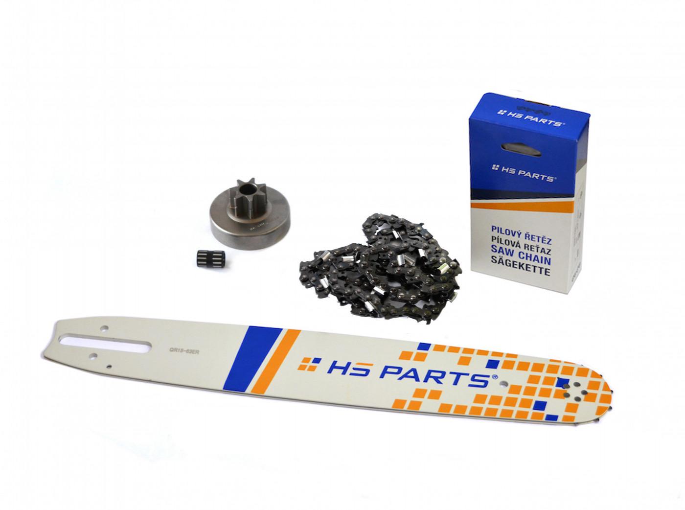 """HS PARTS Vodiaca líšta 15"""" (38cm) + reťaz .3/8"""" 1,6mm 56 čl. + ozubenie pre Stihl MS380"""