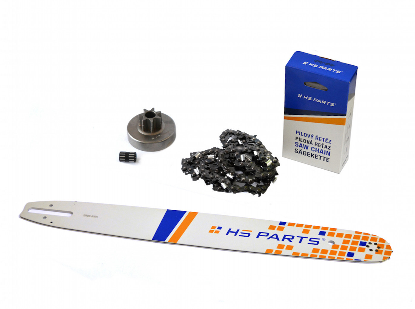 """HS PARTS Vodiaca líšta 20"""" (50cm) + reťaz .3/8"""" 1,6mm 72 čl. + ozubenie pre Stihl MS380"""