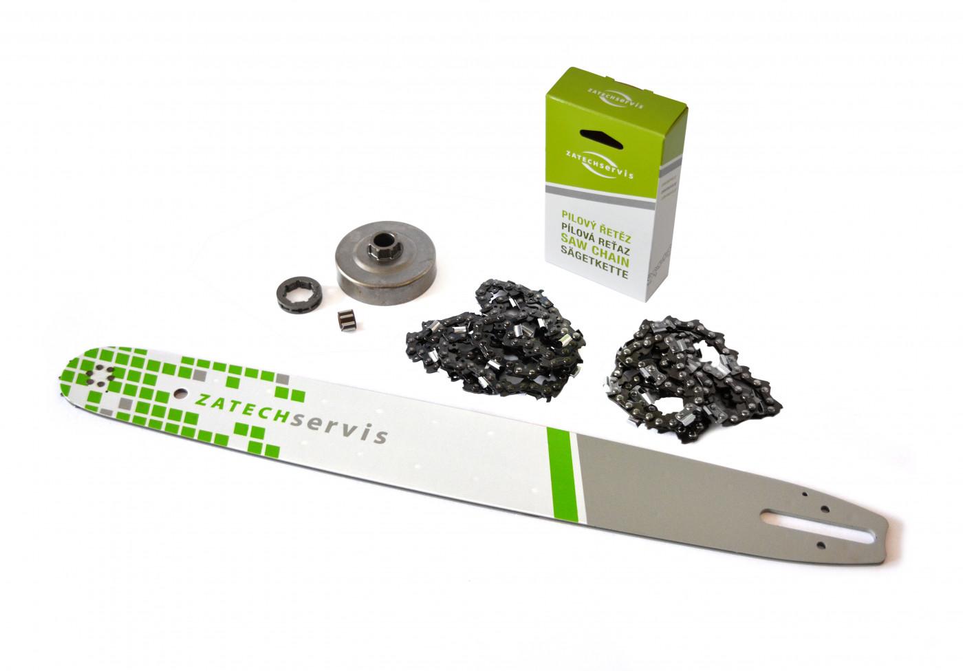 Lišta 50cm +2x reťaz 72 článkov 3/8 1,6 mm + Ozubenie Stihl MS60