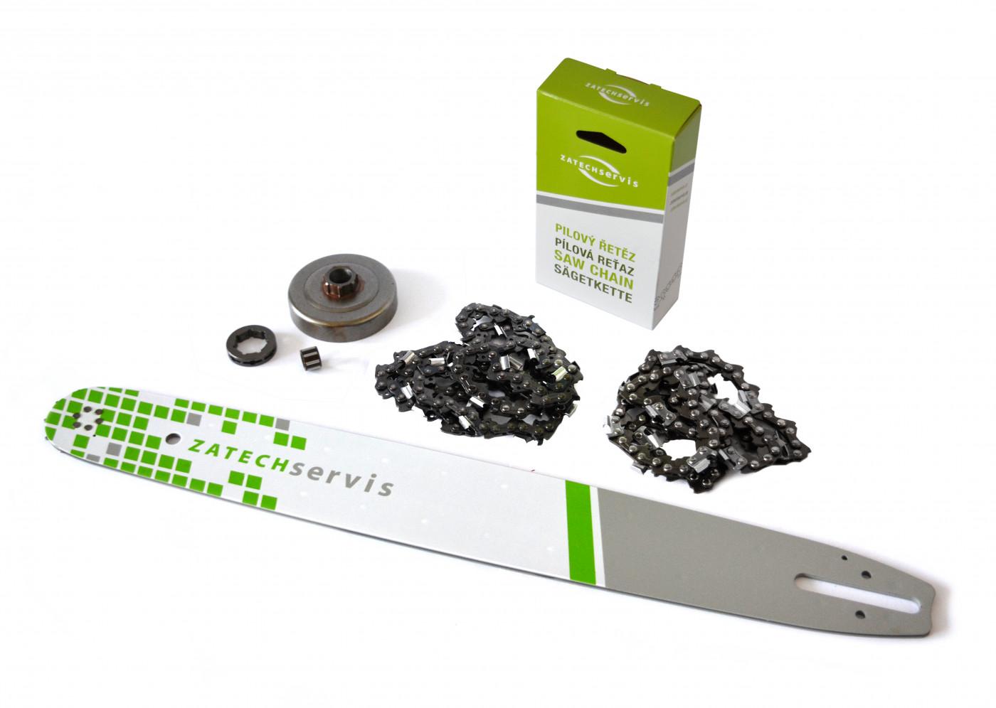 Lišta 50cm +2x reťaz 72 článkov 3/8 1,6 mm + Ozubenie Stihl MS361