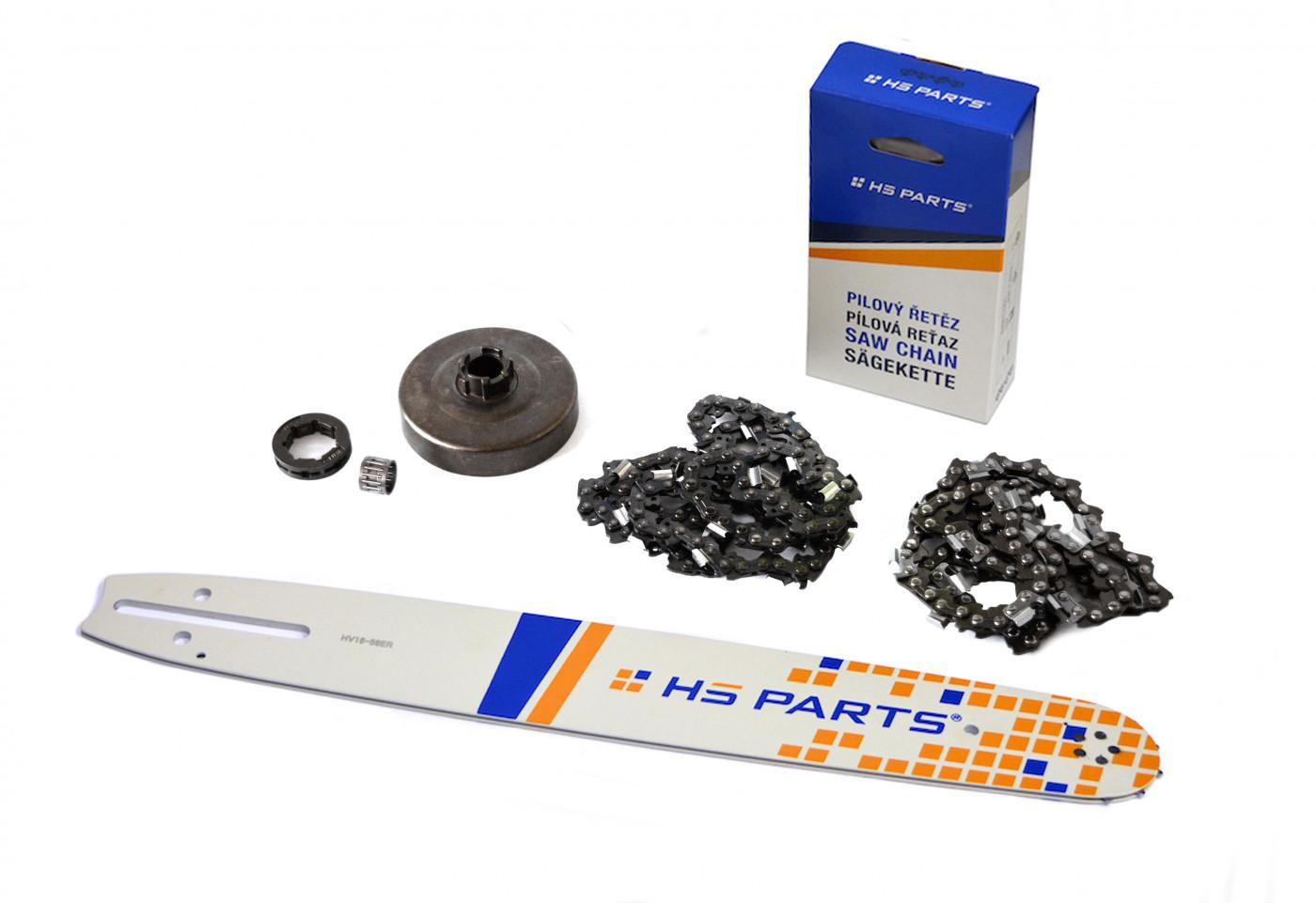"HS PARTS Vodiaca líšta 16""(40cm) + 2 x reťaz .3/8"" 1,5mm 60 čl. + ozubenie Husqvarna 268"