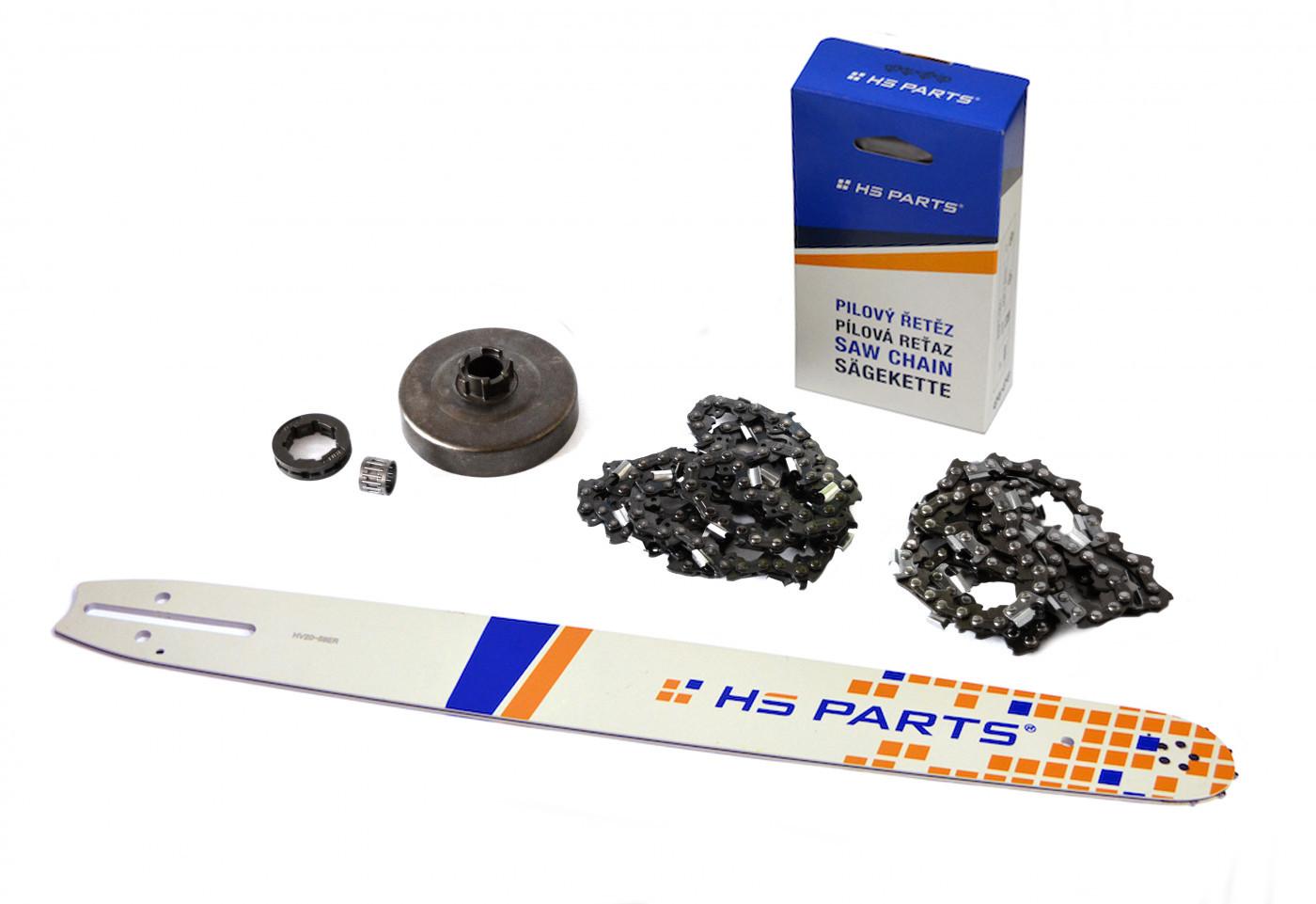 "HS PARTS Vodiaca líšta 20""(50cm) + 2 x reťaz .3/8"" 1,5mm 72čl. + ozubenie Husqvarna 268"