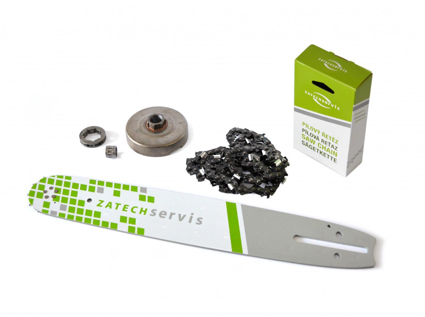 Lišta 35cm + pílový reťaz 3 8, 1,3mm - 52 článkov + Ozubenie pre Partner 350 351