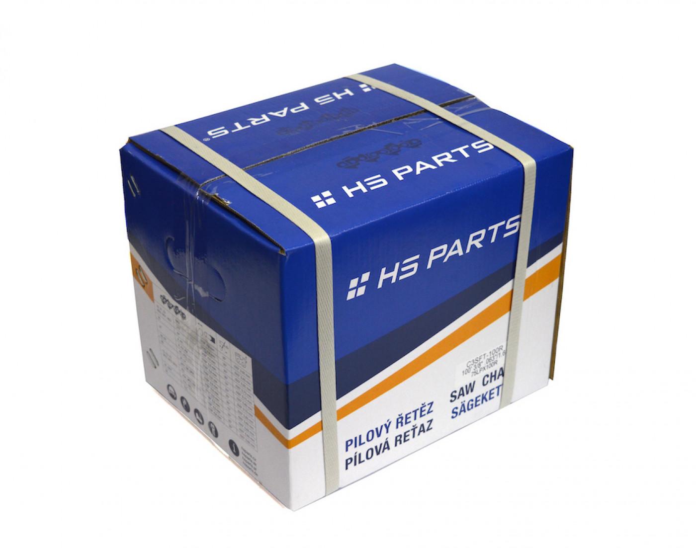 """HS PARTS Rola reťaze pre pozdĺžne rezanie .3/8"""" 1,6mm - 1637 článkov - guľatý zub"""