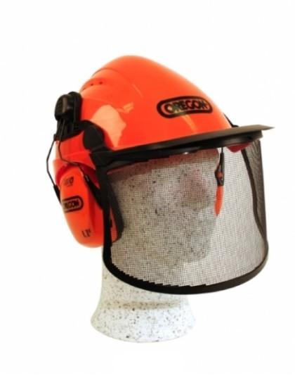 Přilba s odvětráváním, sluchátka -28dB, Ochranný štít BHP
