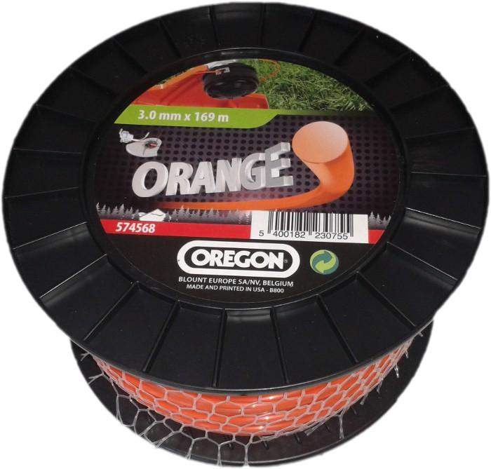Žací struna oranžová kulatá 3,0 mm x 169m