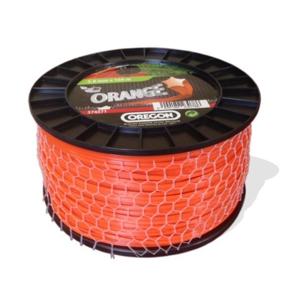Žací struna oranžová HVĚZDA  2,7mm x 208m