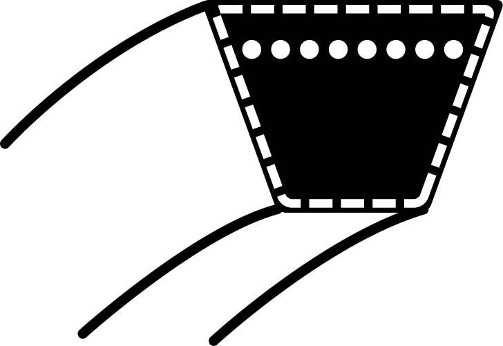 Klínový řemen Husqvarna CTH150/CTH180 - hnací ústrojí (12,7 x 2844,8) (532 17 01-40)