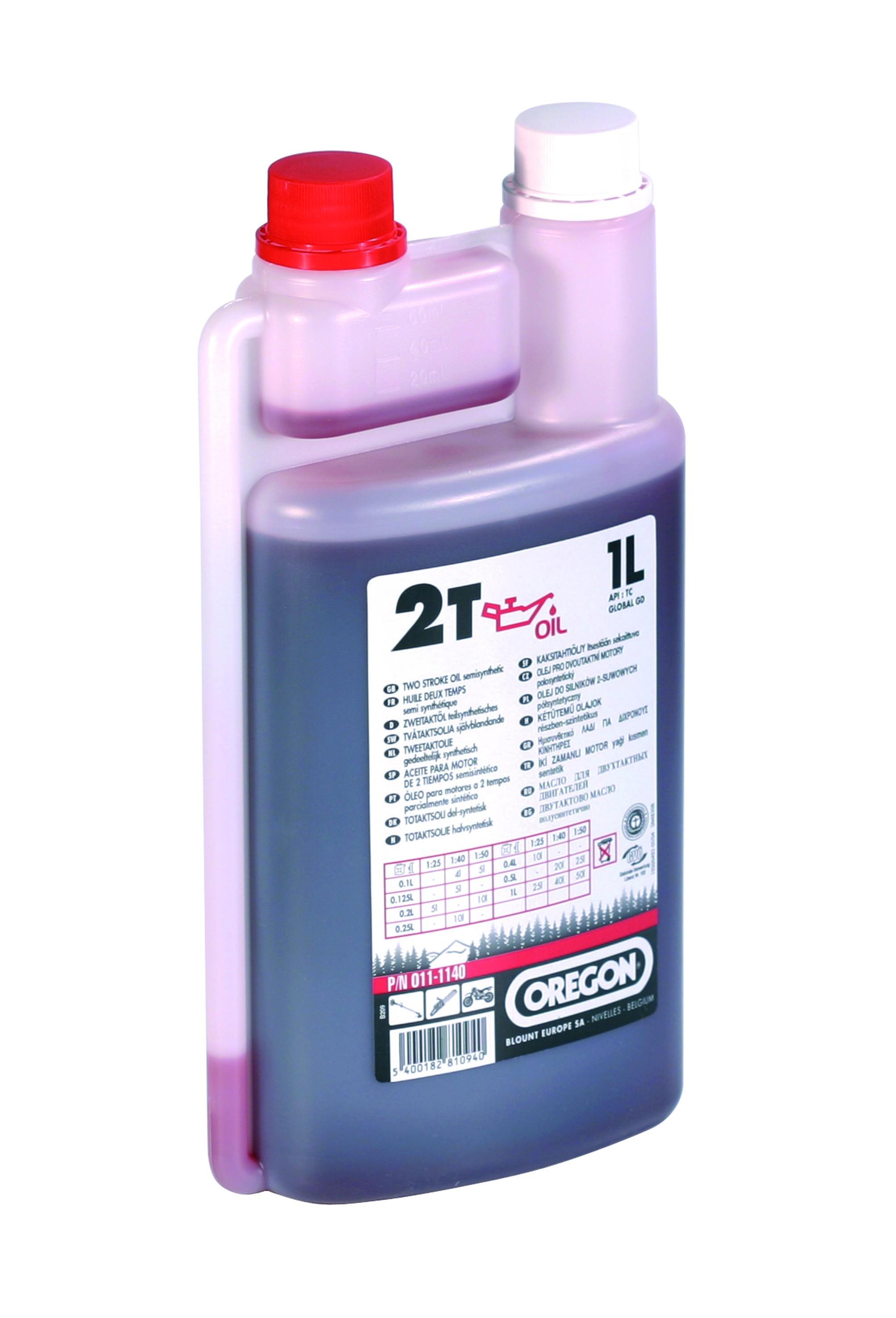 Olej pro 2T motory 1L - červený