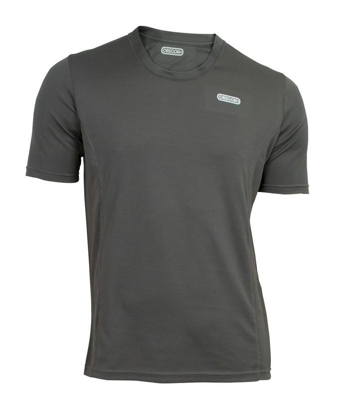 Funkční triko šedé - krátký rukáv