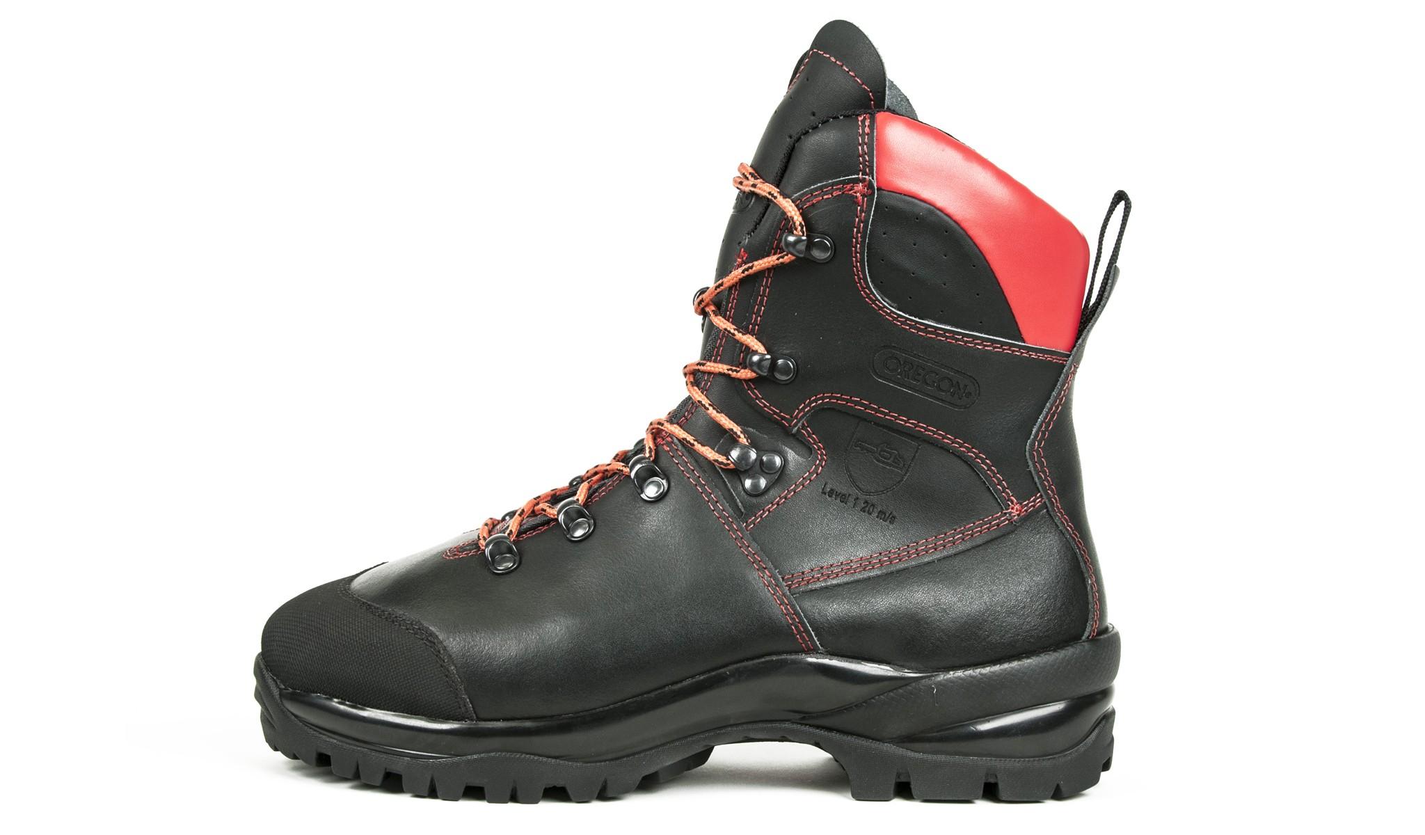 Protipořezové kožené boty 295479