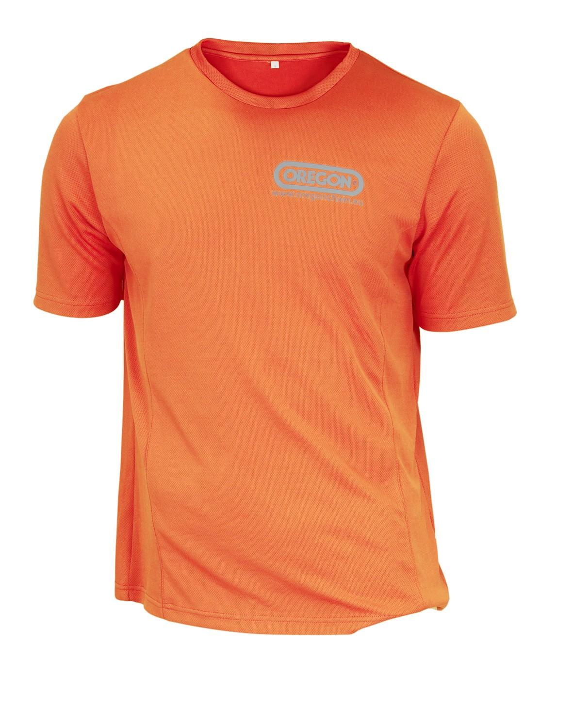 Funkční triko oranžové - krátký rukáv