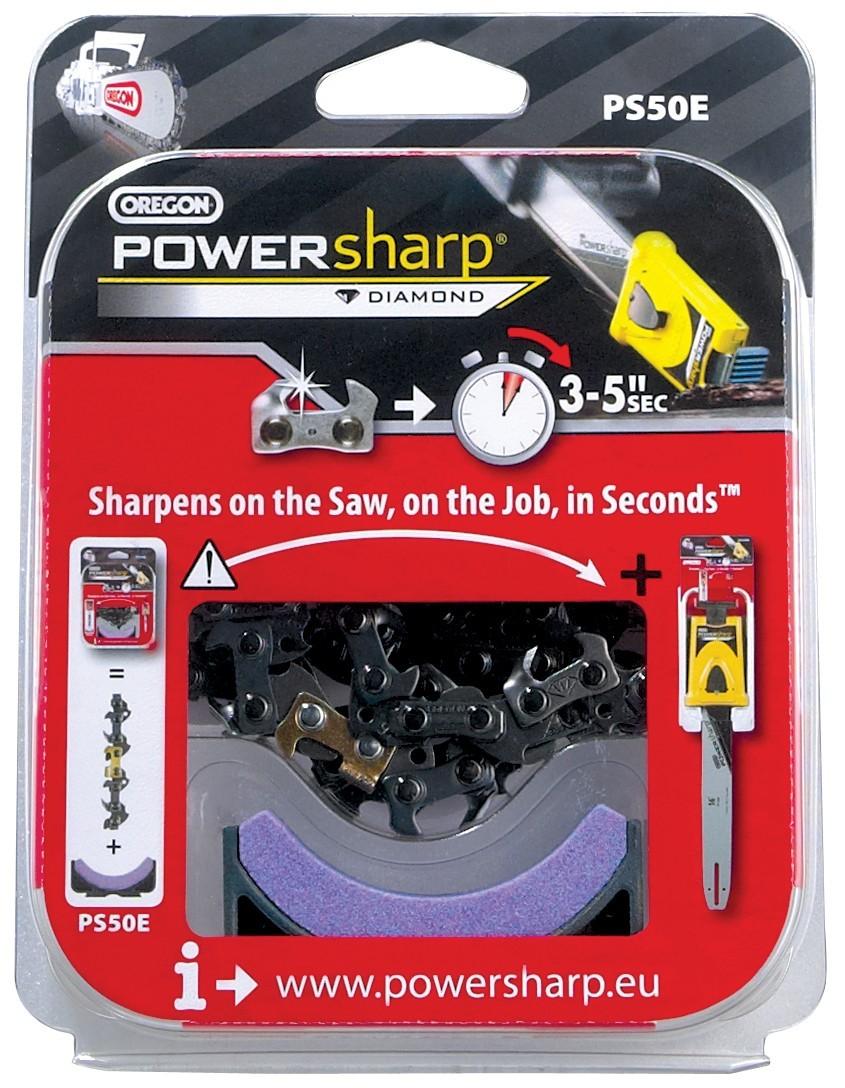 """Pilový řetěz PS40E PowerSharp 40 článků 3/8 / 1,3mm + ostřící kámen"""""""