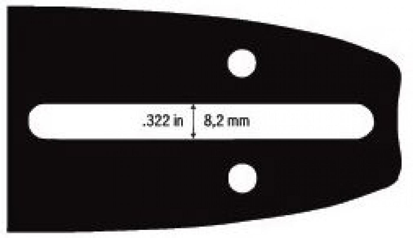 """Vodiaca líšta 16""""(40cm) .3/8"""" 1,3mm 56čl."""