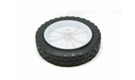 Univerzálne koleso 175mm - plastové + ložisko, gumená pneumatika