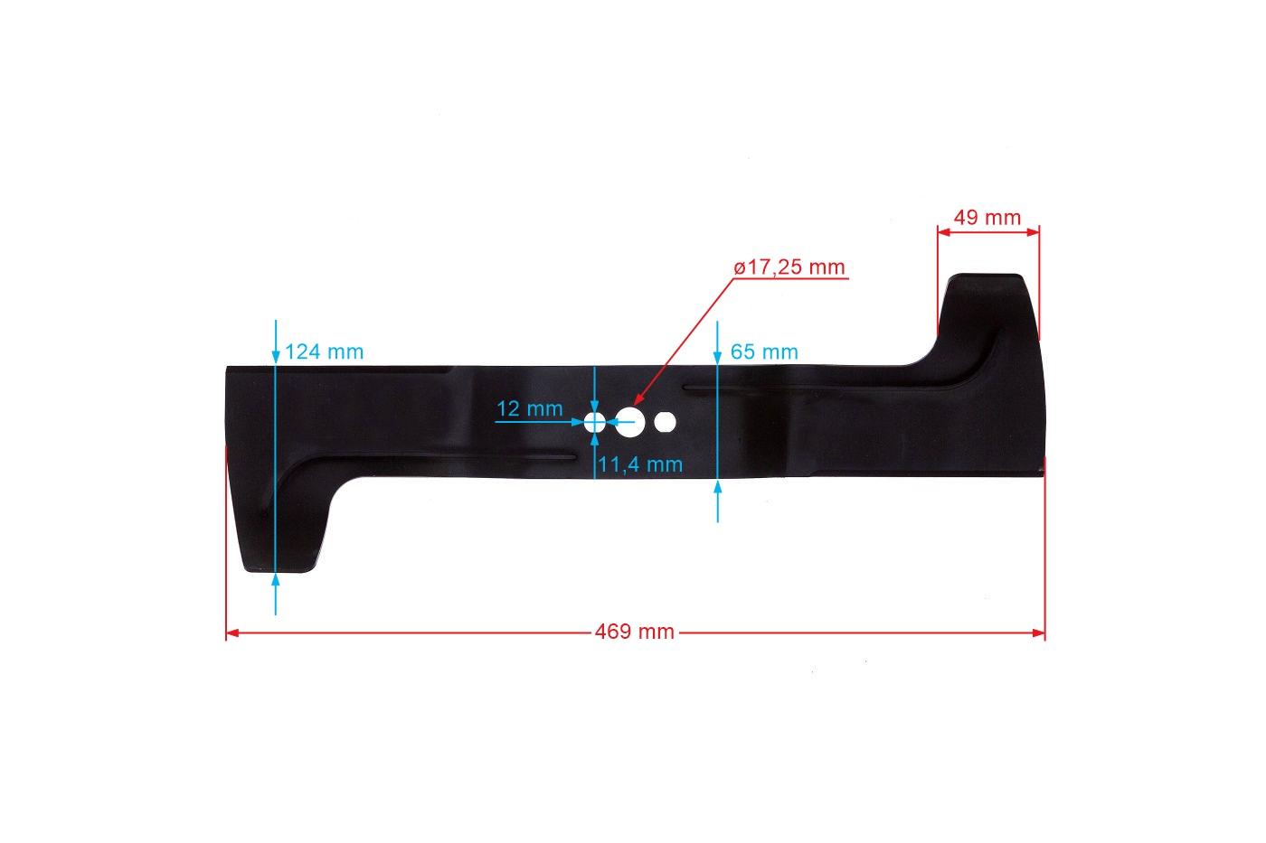 Nôž motorových kosačiek 47,5cm HUSQVARNA - 510 43 66-01
