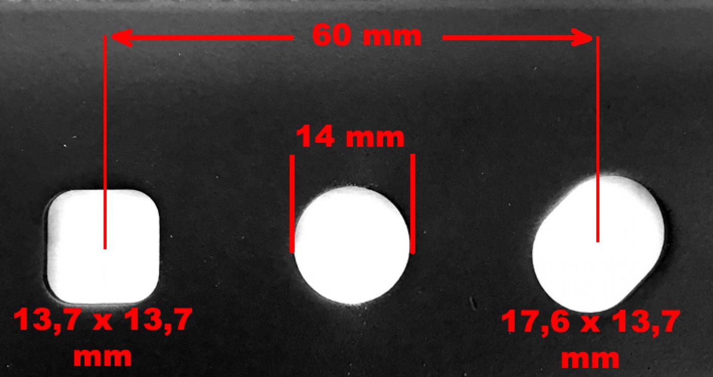 Nôž motorových kosačiek 53cm NAC URSUS mulčovacou