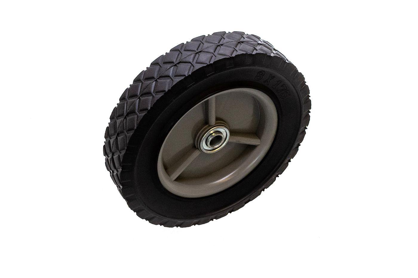 Univerzálne koleso 200mm - plastové + ložisko, gumená pneumatika