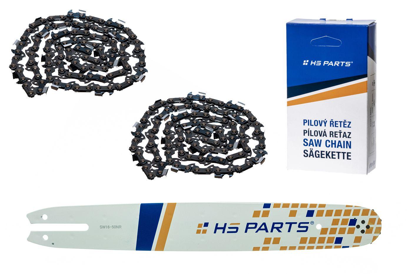"""HS PARTS Vodiaca líšta 16"""" (40cm) + 2 x reťaz .3/8"""" 1,3mm 55 článkov pre Stihl"""
