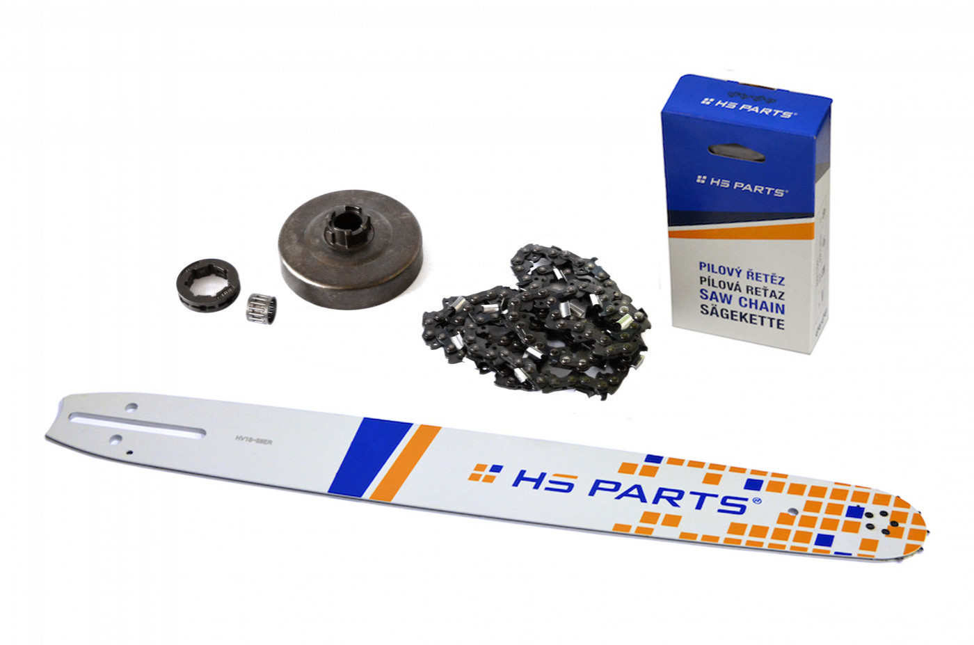 "HS PARTS Vodiaca líšta 18""(45cm) + reťaz .3/8"" 1,5mm 68čl. + ozubenie Husqvarna 268"