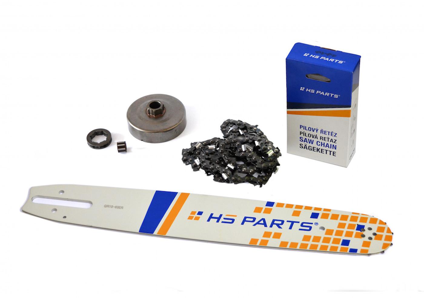 """HS PARTS Vodiaca líšta 15"""" (38cm) + reťaz .3/8"""" 1,6mm 56 čl. + ozubenie pre Stihl MS660"""