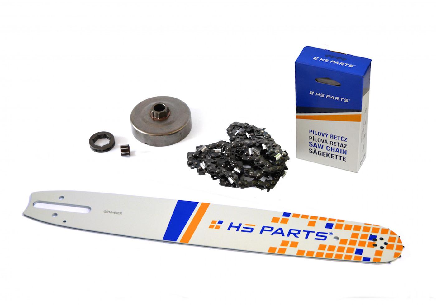 """HS PARTS Vodiaca líšta 16"""" (40cm) + reťaz .3/8"""" 1,6mm 60 čl. + ozubenie pre Stihl MS660"""