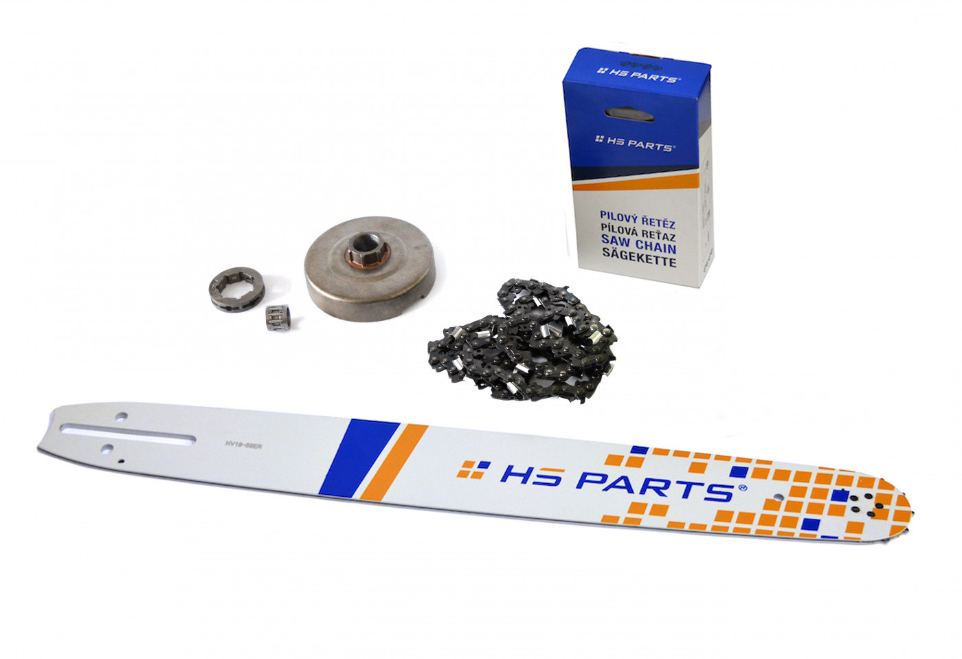 "HS PARTS Vodiaca líšta 18""(45cm) + reťaz .3/8"" 1,5mm 68čl. + ozubenie Husqvarna 365"