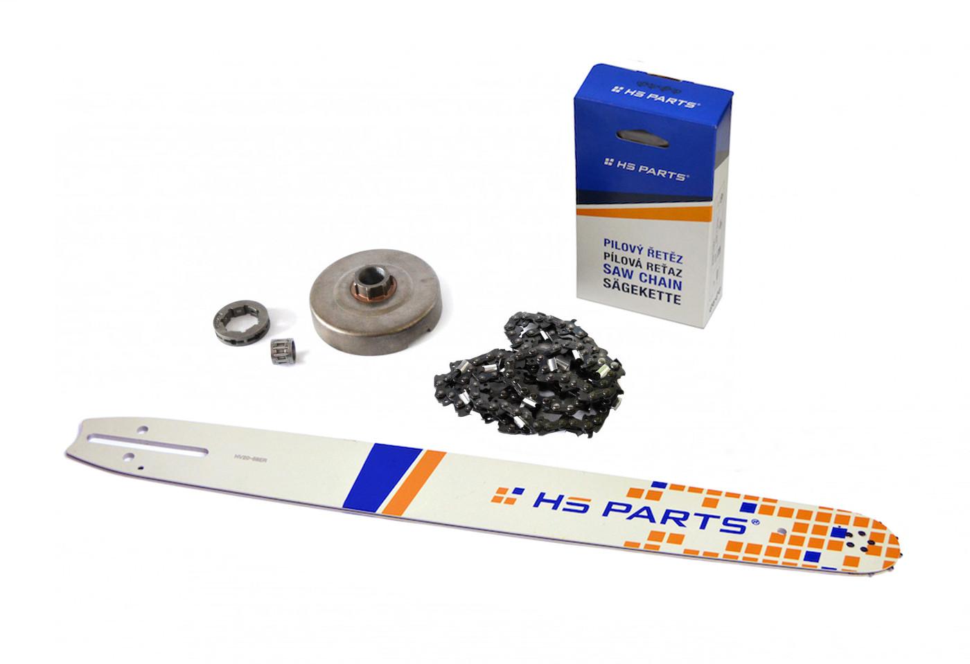 "HS PARTS Vodiaca líšta 20""(50cm) + reťaz .3/8"" 1,5mm 72čl. + ozubenie Husqvarna 365"