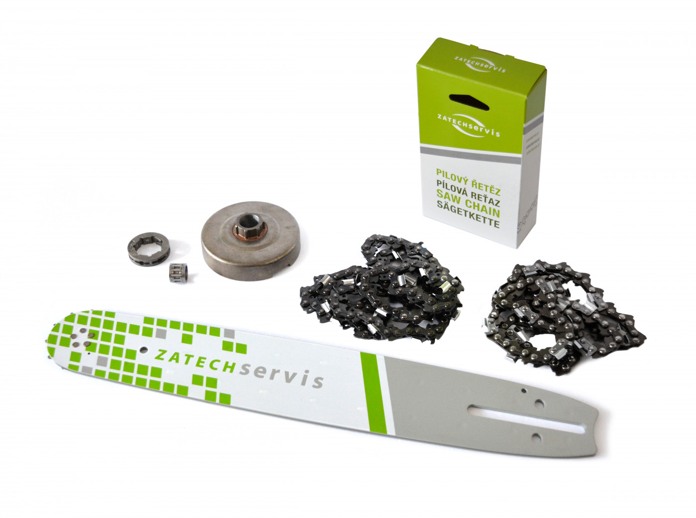 Lišta 35cm + 2x pílový reťaz 3/8, 1,3mm - 52 článkov + Ozubenie pre Partner 350 351