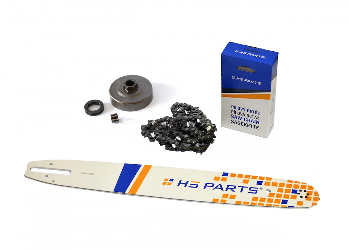 """HS PARTS Vodiaca líšta 18"""" (45cm) + reťaz .3/8"""" 1,6mm 66 čl. + ozubenie pre Stihl MS360"""