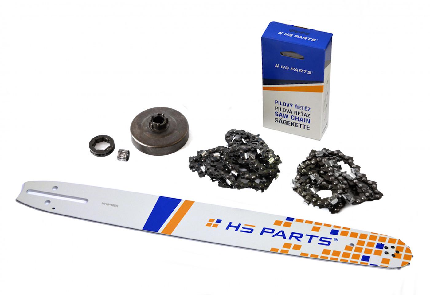 "HS PARTS Vodiaca líšta 18""(45cm) + 2 x reťaz .3/8"" 1,5mm 68čl. + ozubenie Husqvarna 268"
