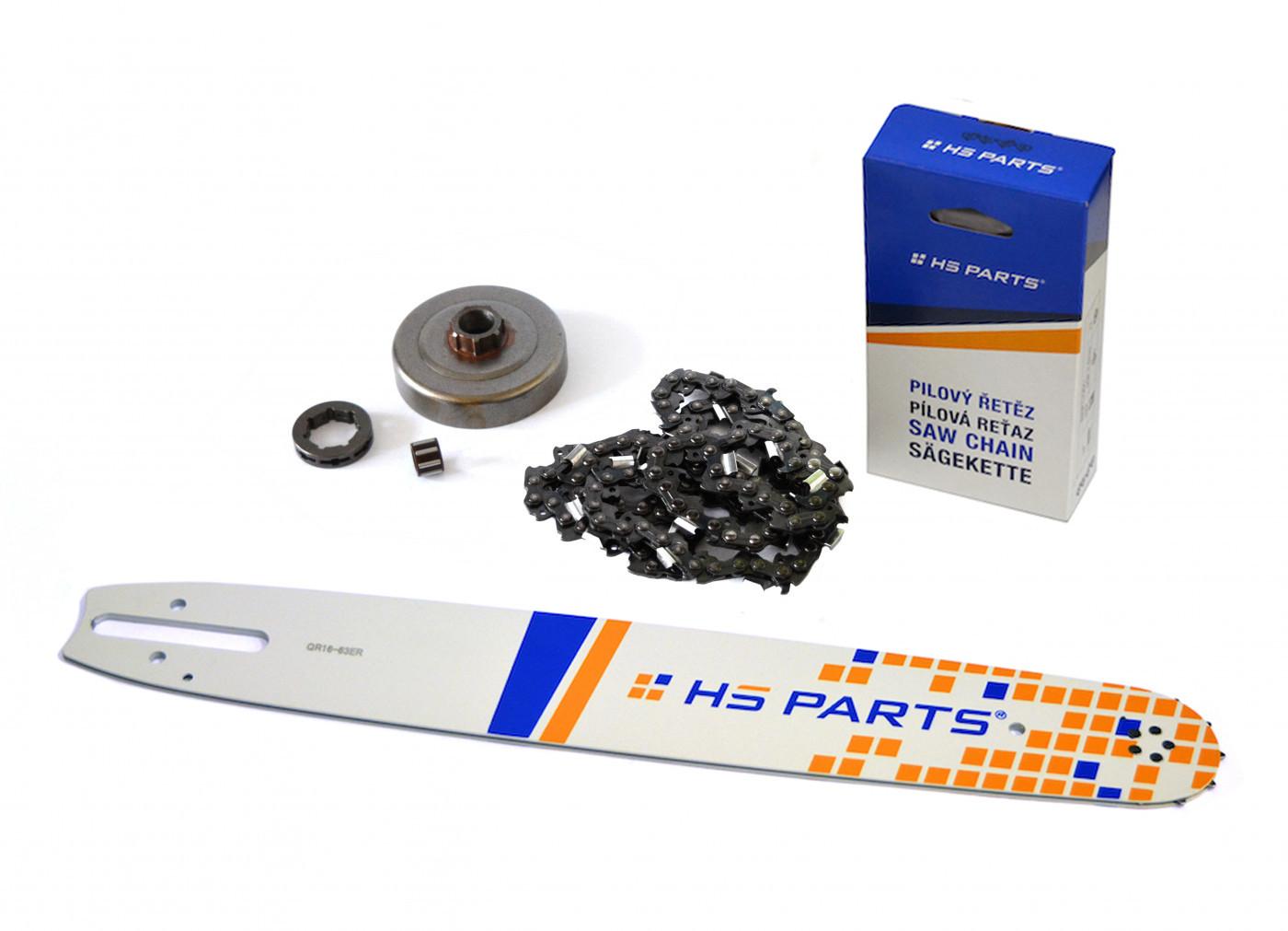 """HS PARTS Vodiaca líšta 16"""" (40cm) + reťaz .3/8"""" 1,6mm 60 čl. + ozubenie pre Stihl MS361"""