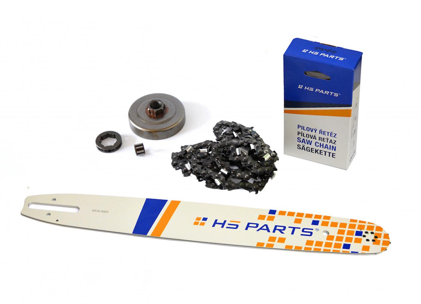"""HS PARTS Vodiaca líšta 18"""" (45cm) + reťaz .3/8"""" 1,6mm 66 čl. + ozubenie pre Stihl MS361"""