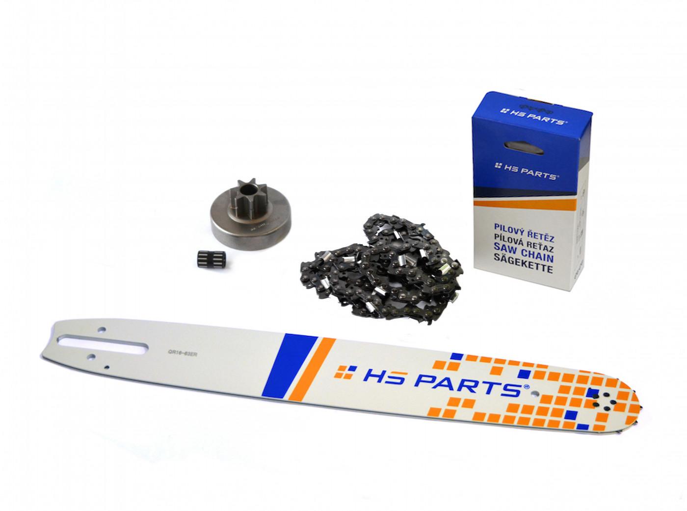 """HS PARTS Vodiaca líšta 16"""" (40cm) + reťaz .3/8"""" 1,6mm 60 čl. + ozubenie pre Stihl MS380"""