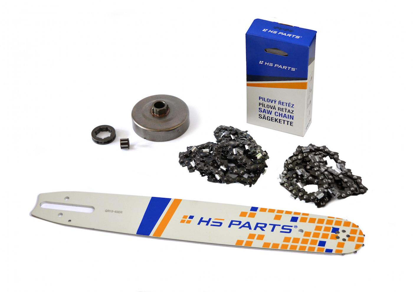 """HS PARTS Vodiaca líšta 15""""(38cm) + 2 x reťaz .3/8"""" 1,6mm 56 čl. + ozubenie pre Stihl MS660"""