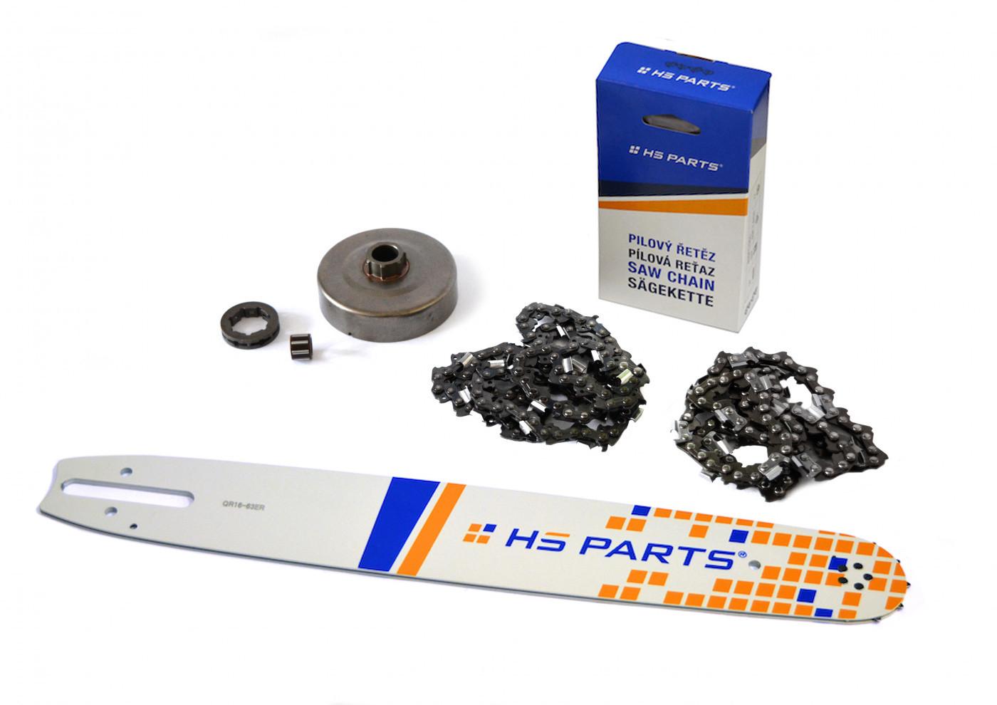"""HS PARTS Vodiaca líšta 16""""(40cm) + 2 x reťaz .3/8"""" 1,6mm 60 čl. + ozubenie pre Stihl MS660"""