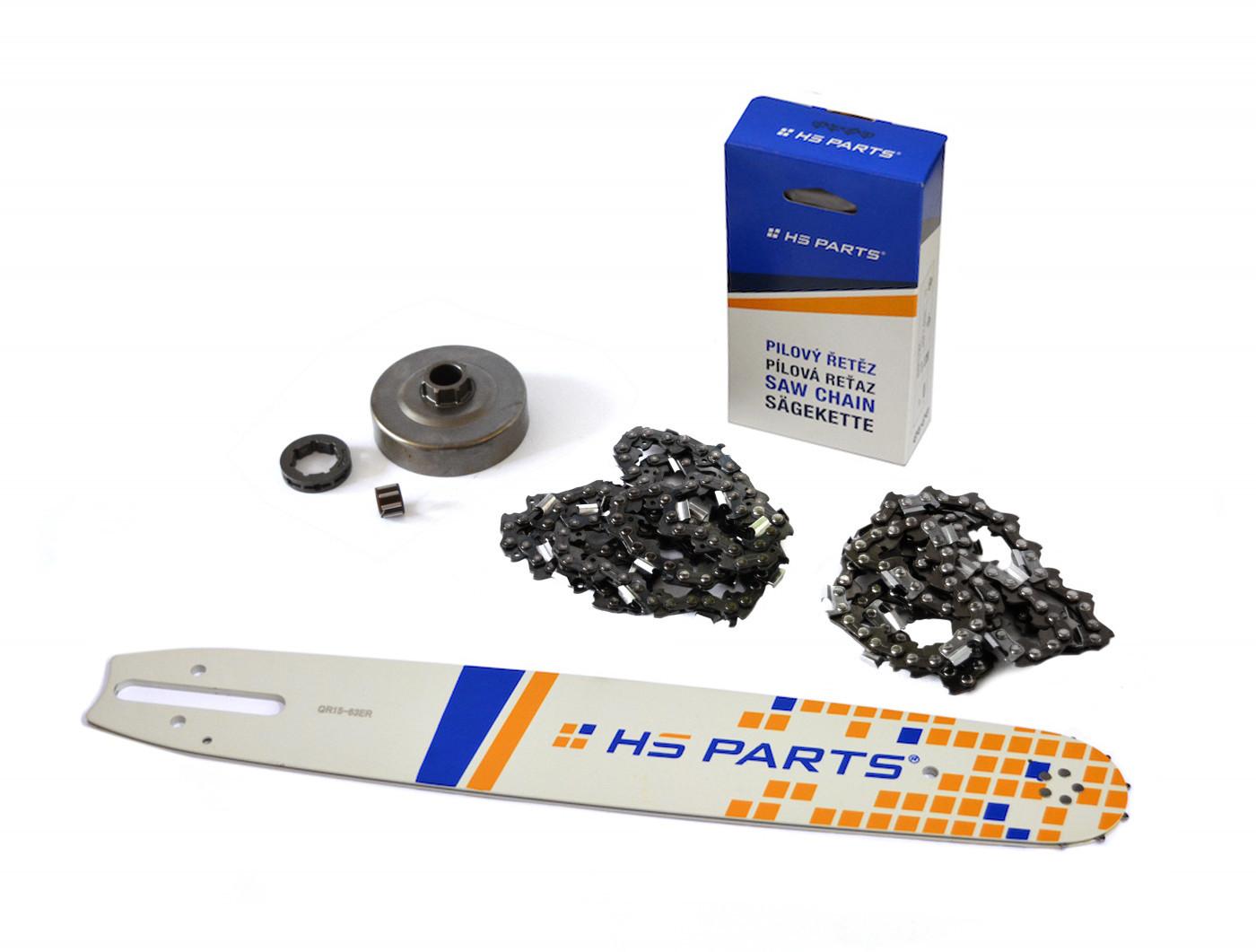 """HS PARTS Vodiaca líšta 15""""(38cm) + 2x reťaz .3/8"""" 1,6mm 56 čl. + ozubenie pre Stihl MS360"""
