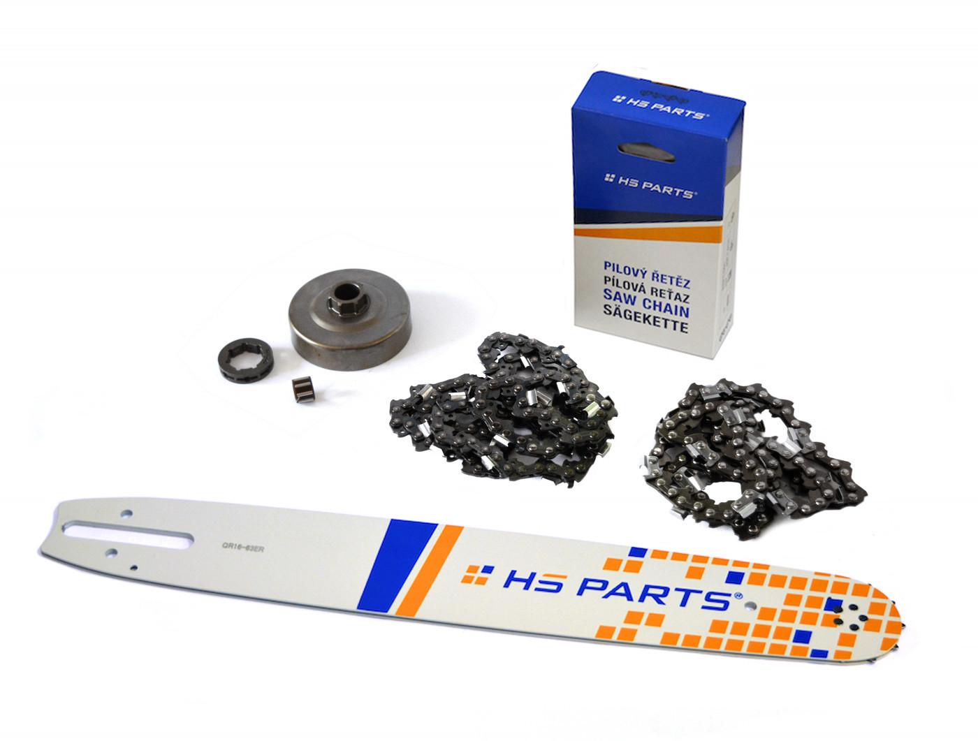 """HS PARTS Vodiaca líšta 16""""(40cm) + 2 x reťaz .3/8"""" 1,6mm 60 čl. + ozubenie pre Stihl MS360"""