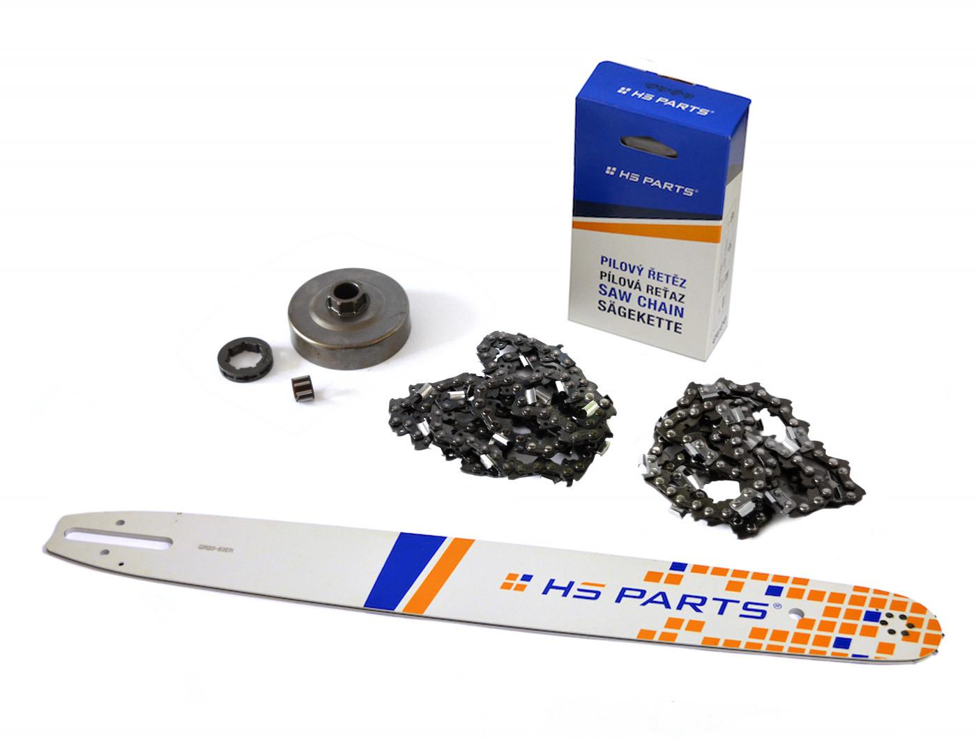 """HS PARTS Vodiaca líšta 20""""(50cm) + 2x reťaz .3/8"""" 1,6mm 72 čl. + ozubenie pre Stihl MS360"""
