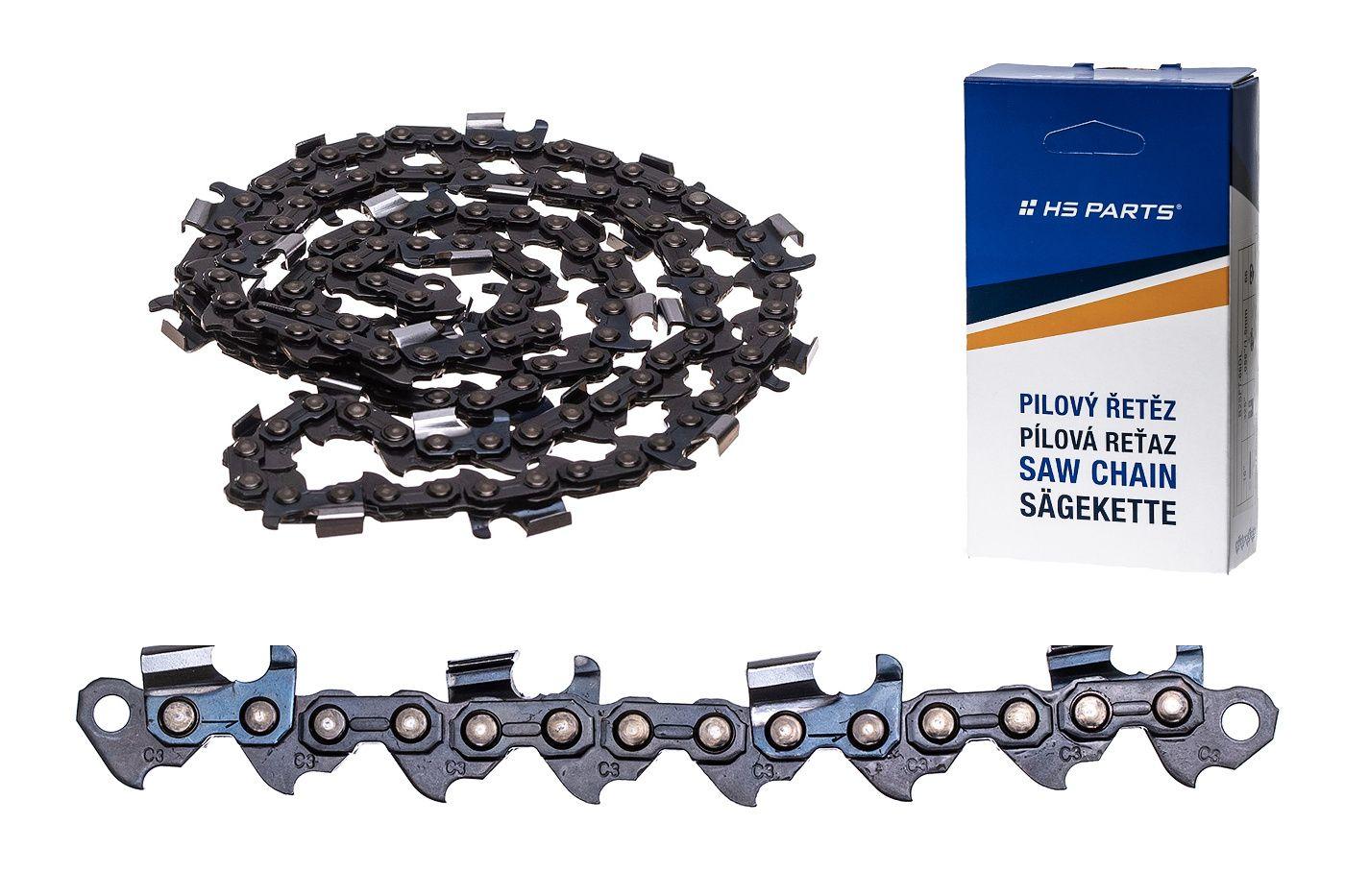 """HS PARTS Pilový řetěz na podélné řezání 3/8"""" .063"""" (1,6 mm) 72 čl."""
