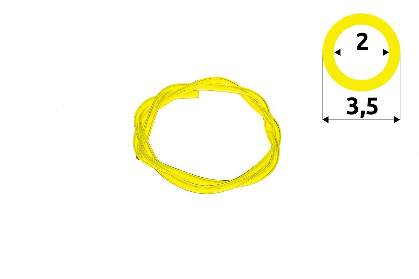 Palivová hadička 2,5 mm x 3,5 mm - 1 meter