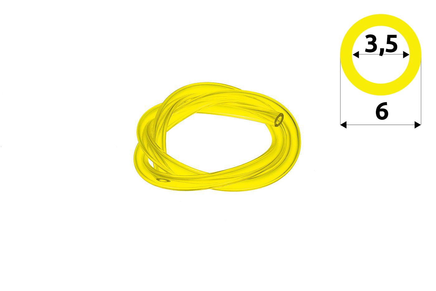 Palivová hadička 3,5 mm x 6,0 mm - 1 meter