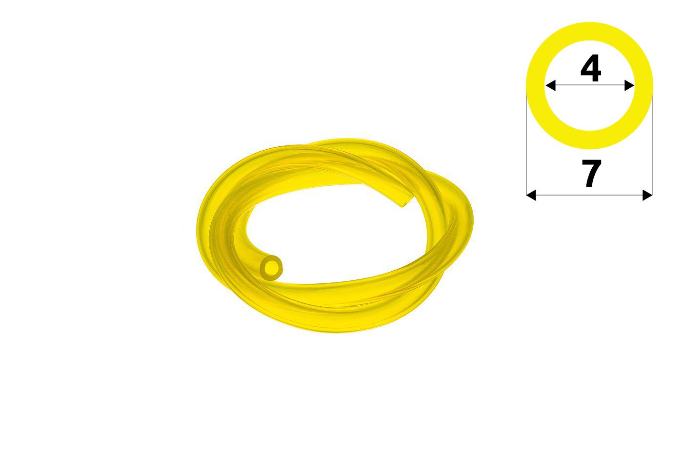 Palivová hadička 4 mm x 7 mm - 1m Palivová hadička 4 mm x 7 mm - 1 meter Palivová hadička 4 mm x 7 mm